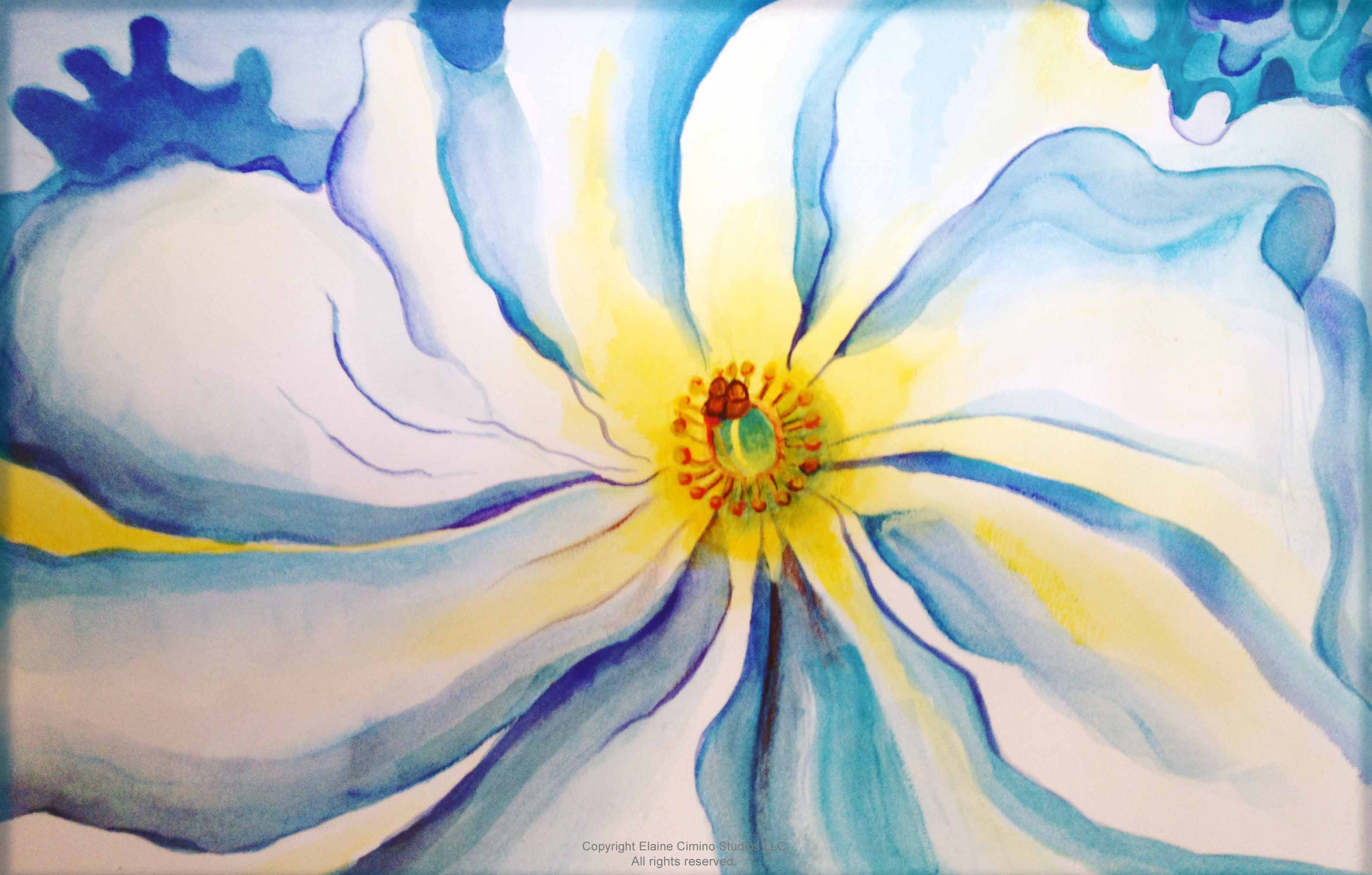 Flower of Georgia O'Keeffe