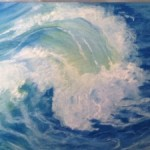 "The Wave- Pastel 17""x14"""