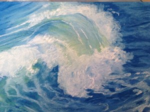 "The Wave- Pastel 16""x12"""