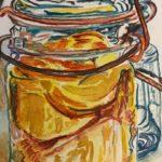 """Watercolor, 9""""x12"""" Peaches"""